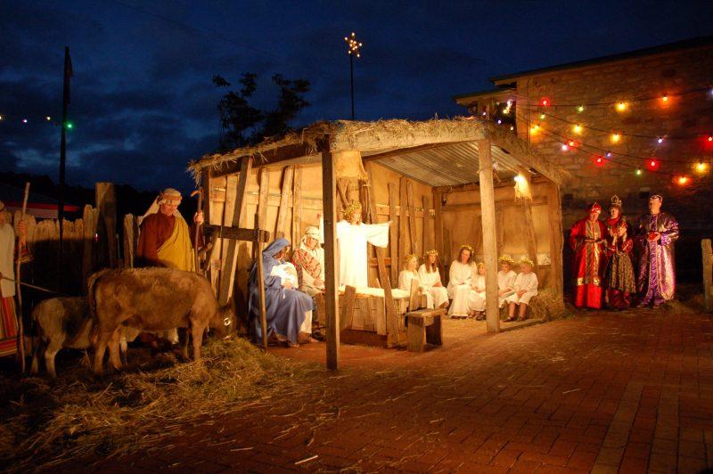Living Nativity Scene at Lights of Lobethal Festival, Lobethal