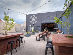 Exterior Little Bang Tap Room Beer Garden