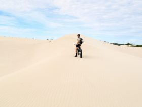 Fatbike on dune