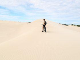 Fatbike on dune