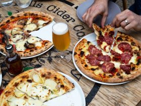 Mismatch Brewing Co Beer and pizza lunch at LOT.100