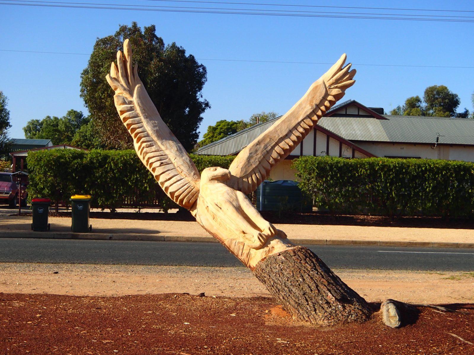 Eagle tree sculpture
