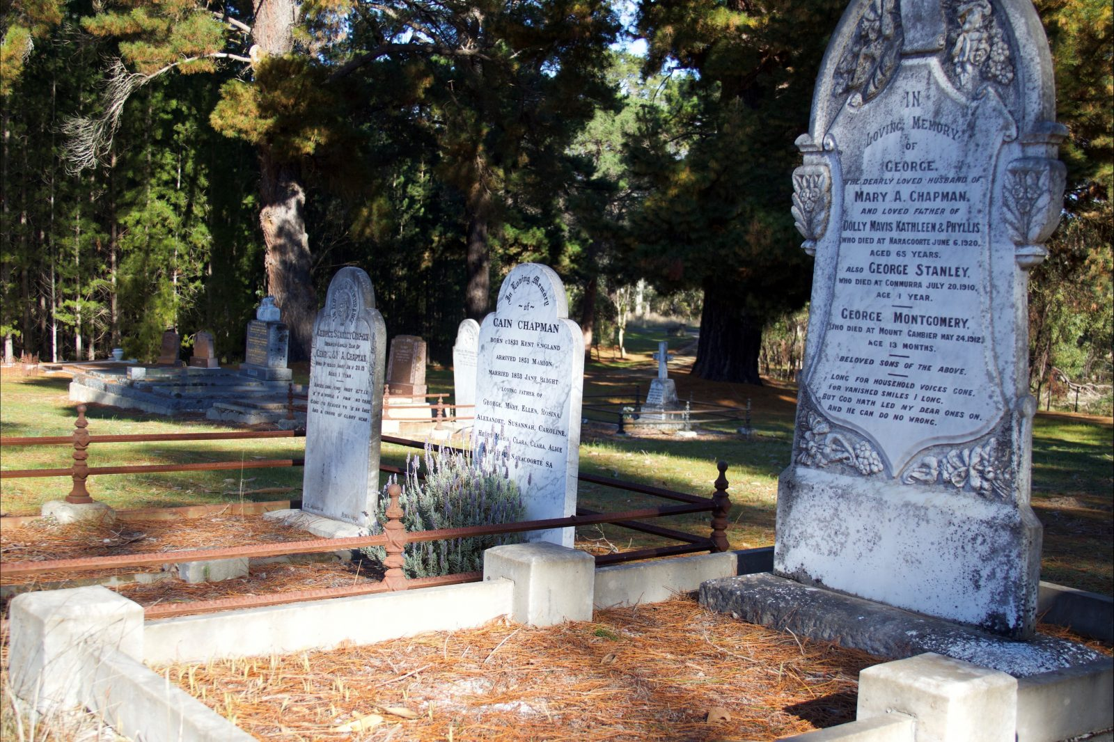 Historic gravestones from bygone times are a fascinating feature of the Lucindale Cemetery.