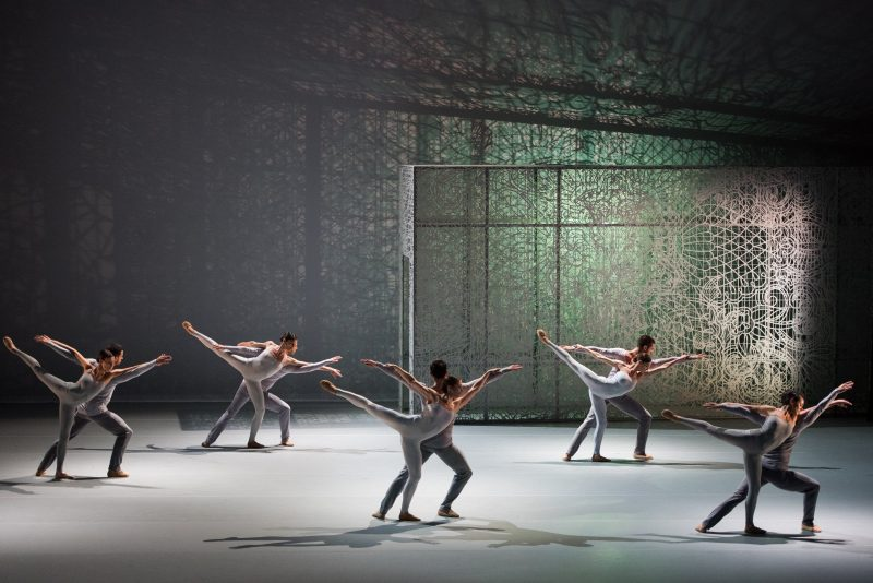 Dancers from Lyon Opera Ballet in Lucinda Childs' part of the show