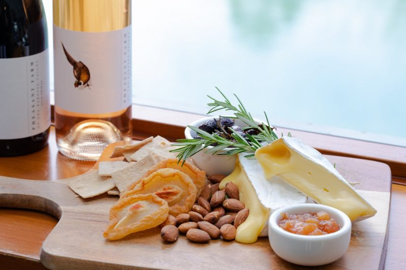 Wine and Cheese Platter at Maggie Beer Farm Shop & Cafe