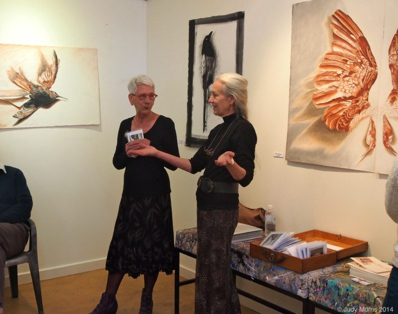 Opening of Rita Halls show at Magpie Springs Gallery