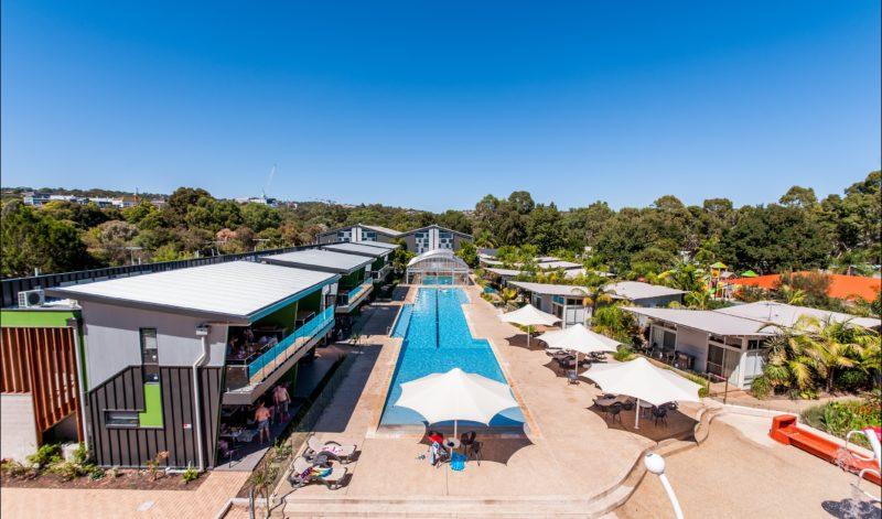 Luxury poolside accommodation