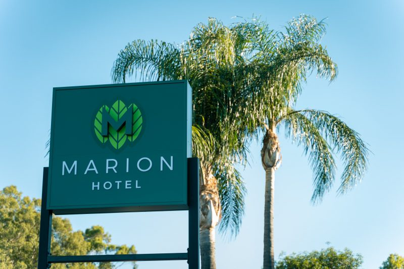 Marion Hotel Sign