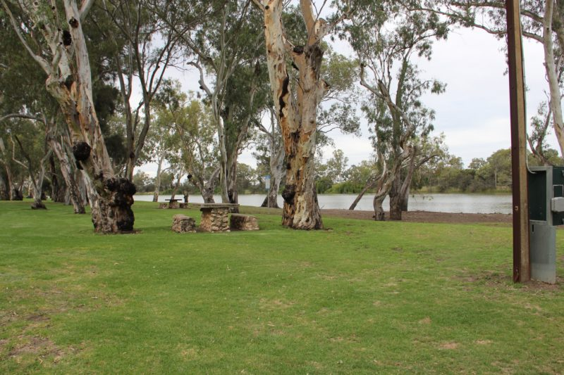 Beautiful spot on the edge of the River Murray