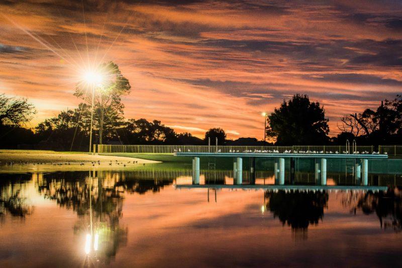 Millicent Swimming Lake Night