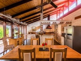 Enjoy a gourmet hosted breakfast in the Lodge dining room