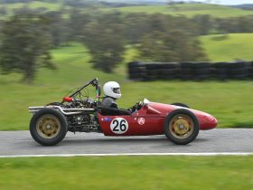 Historic Racer at Collingrove Hillclimb