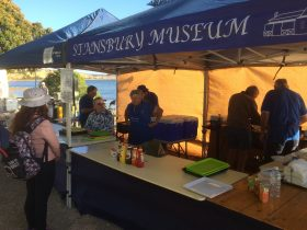 Busy workers in the Stansbur Museum marquee