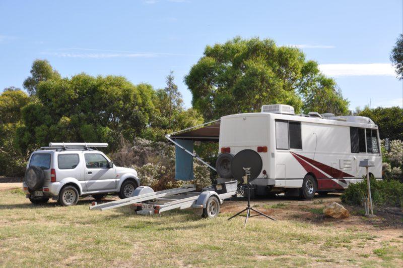 Camping at Naracoorte