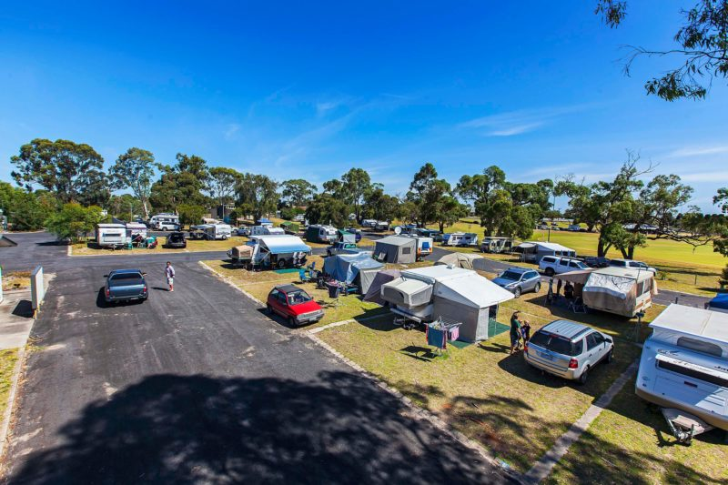Caravans at the Naracoorte Big4 Holiday Park