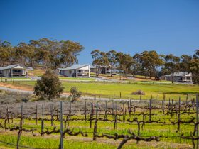 Nestled amongst the trees, overlooking vineyards and natural landscape