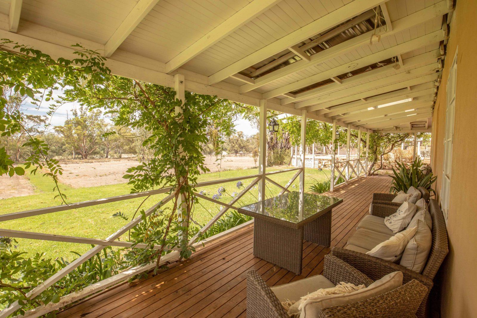 river views from the shaded veranda