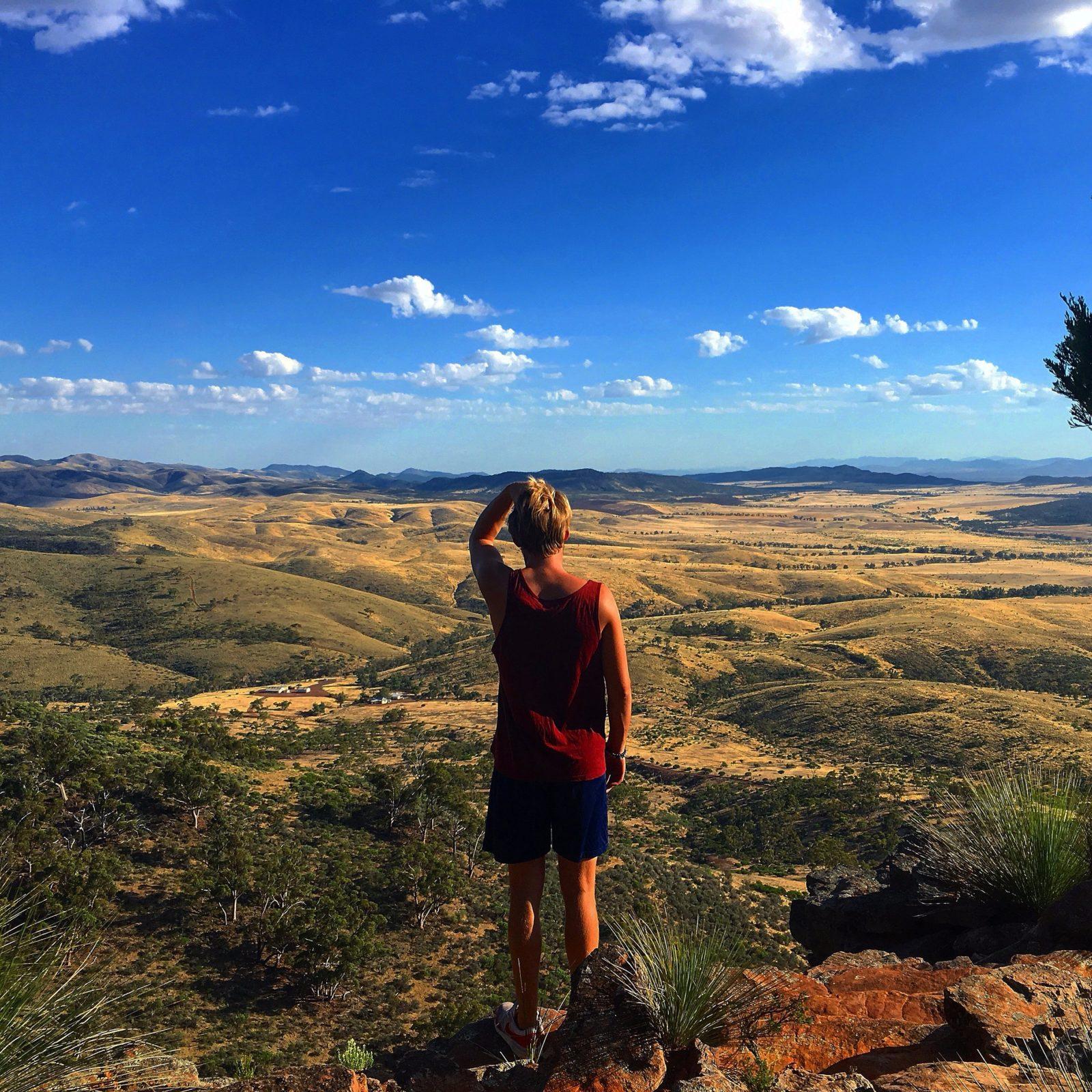 Guy overlooking Flinders Ranges