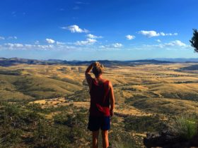 Guy overlooking Flinders Ranges