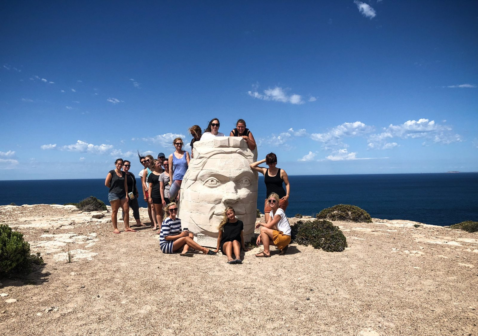 Sculptures by the sea in Elliston on the Eyre Peninsula