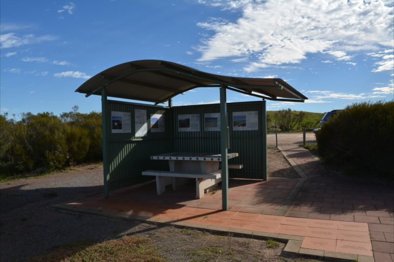 Info booth, picnic area