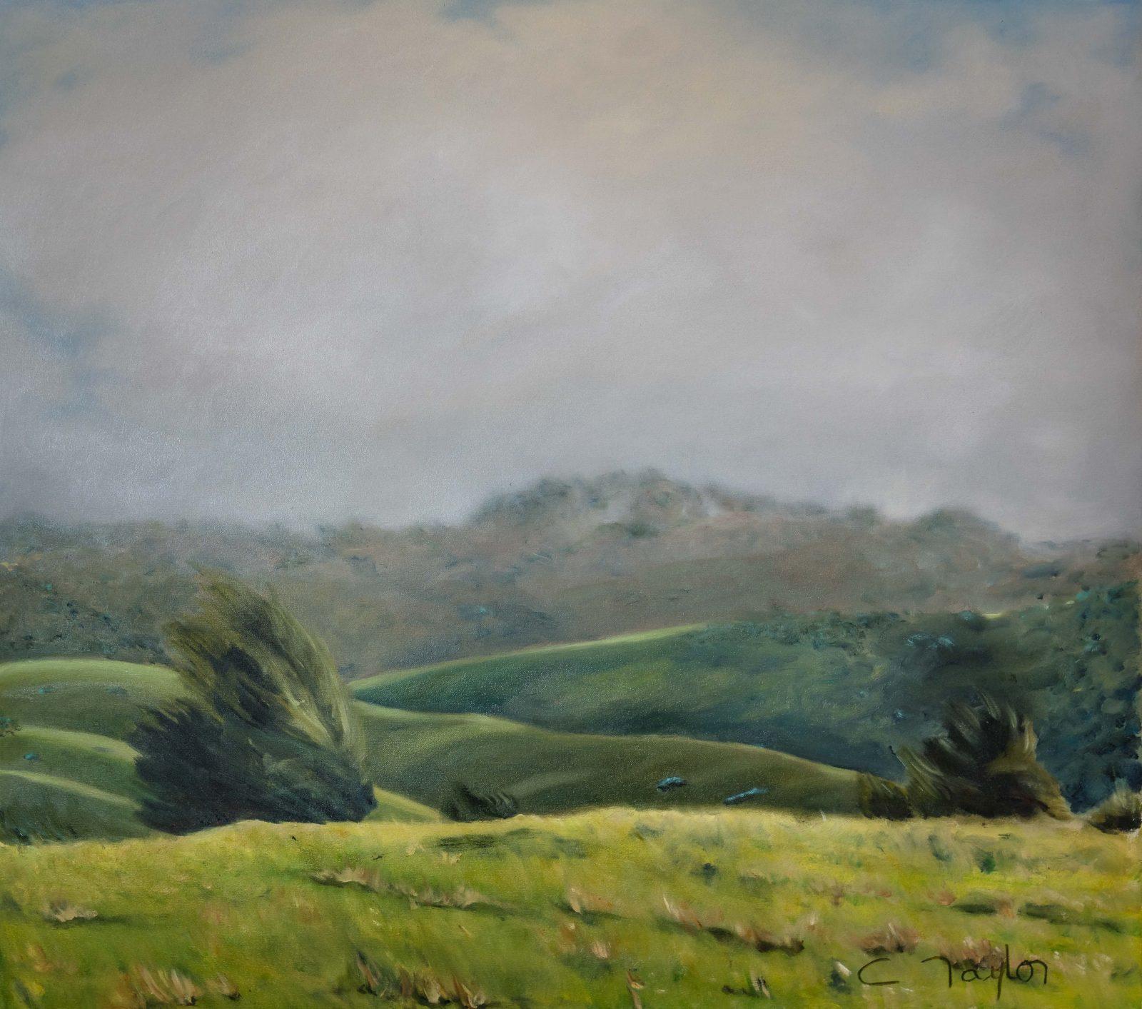 Fine Art Kangaroo Island artist Caroline Taylor, moody, oil on linen, 2018