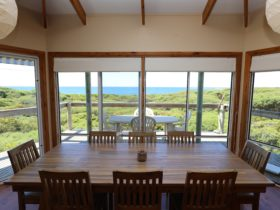 View from dining area looking towards Vivonne Bay and Point Ellen.