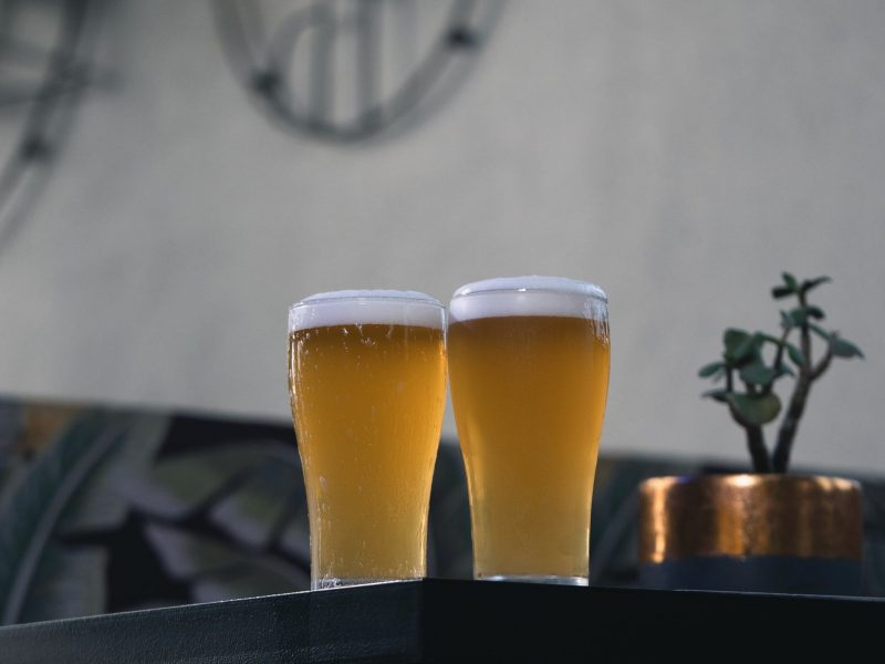 Beers in the beer garden