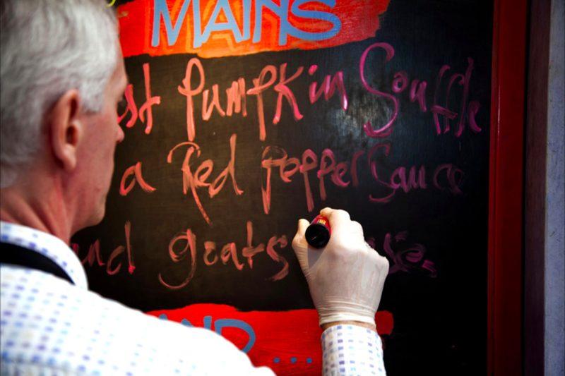 Karter writes the menu