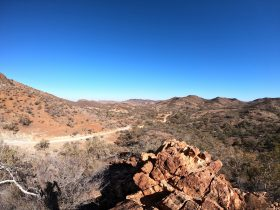 Taking in the beautiful views of the Flinders Ranges on tour
