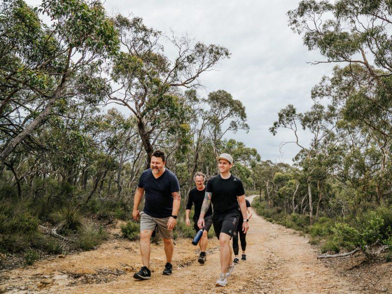 People bush walking along the brand new Oxfam Trailwalker Adelaide trail