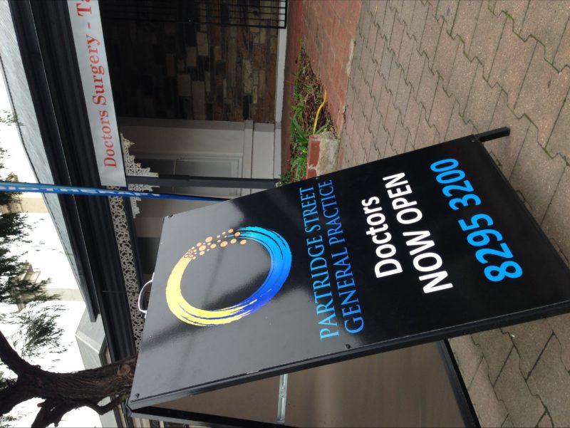 partridge street general practice sign medical centre gp nursing accident sign