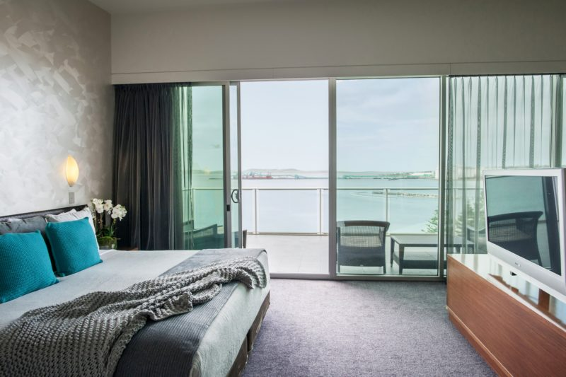 Luxury Ocean View Suite on the sixth floor of the Port Lincoln Hotel boasting ocean views