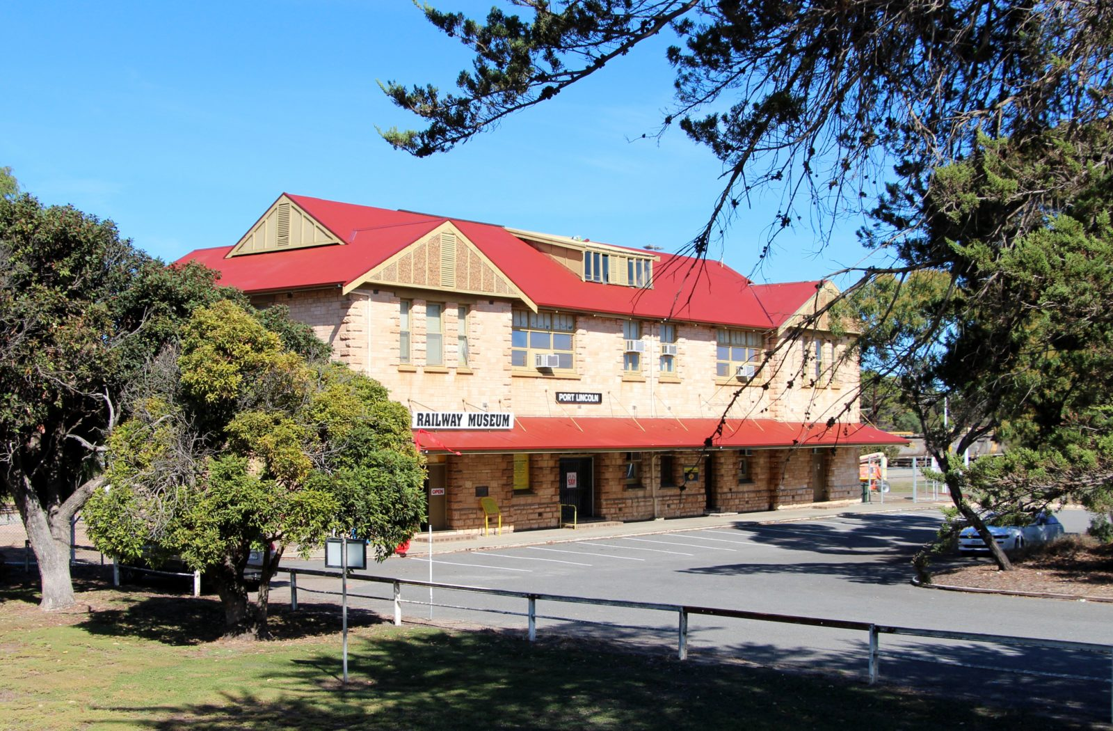 Port Lincoln Railway Museum, housed in the Port Lincoln railway station