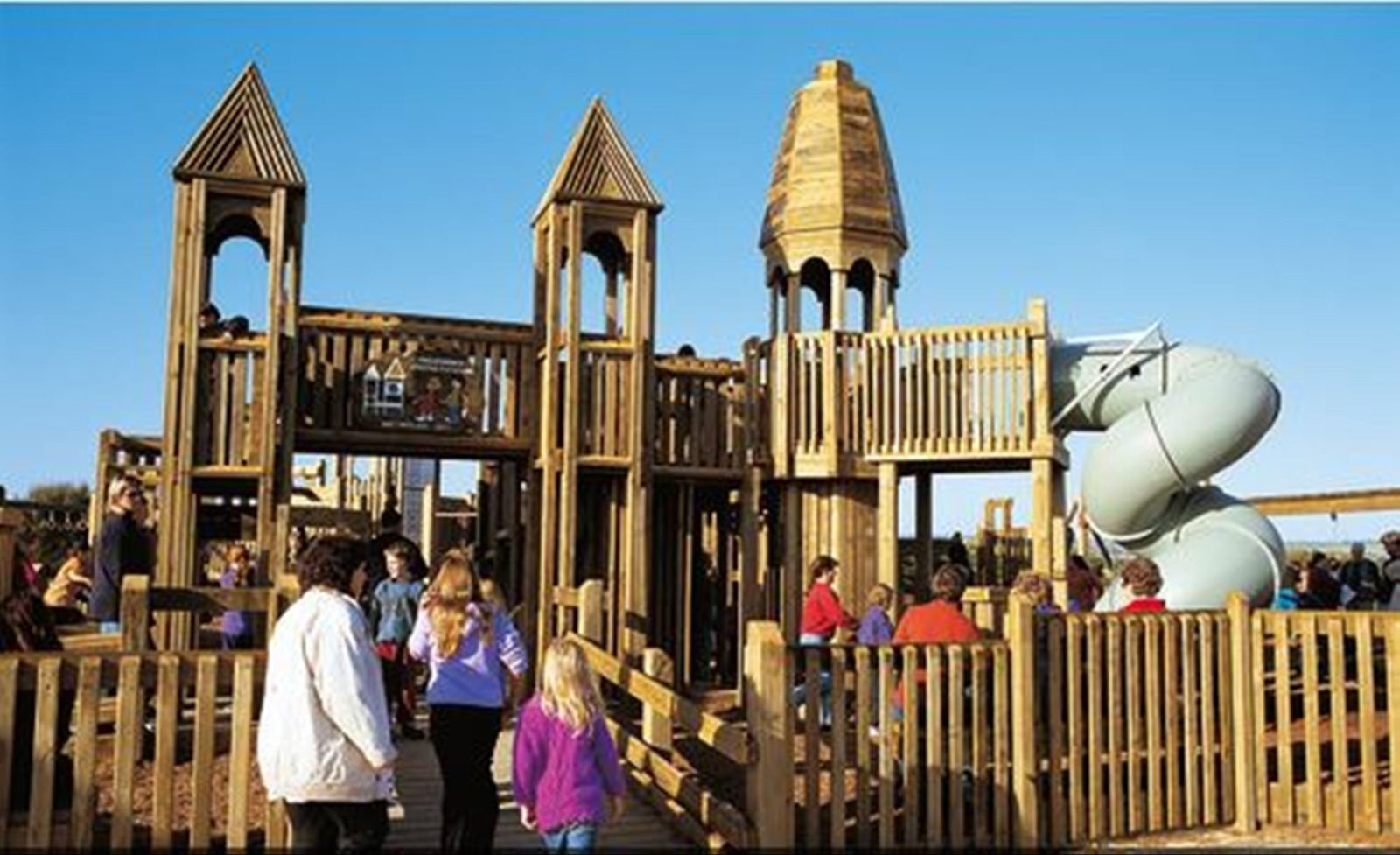 Port Noarlunga Jubilee Adventure Playground Wooden Forte