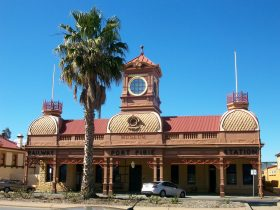 The Port Pirie Railway Station, built in a striking Victorian Pavilion style in 1902.