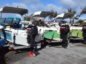 3 x 15' hire boats