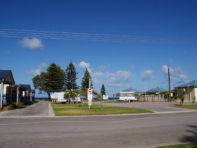 Seaside beachfront caravan park