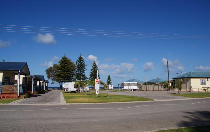 Seaside beachfront caravan park
