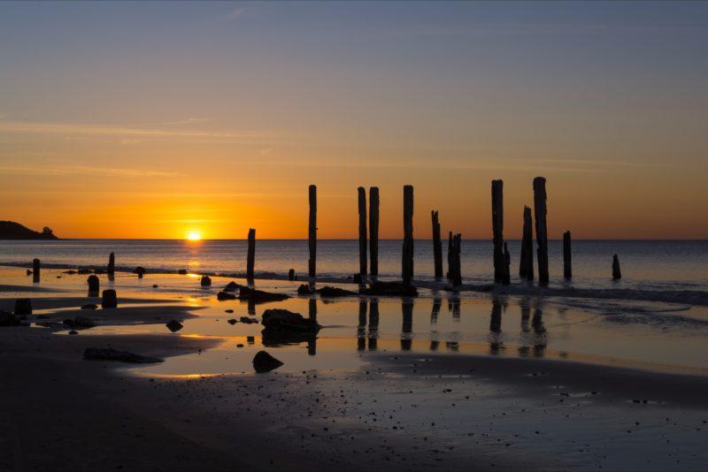 Port Willunga Beach at Sunset