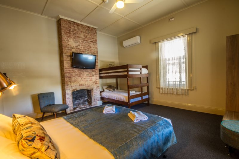 Accommodation - queen and bunk bed