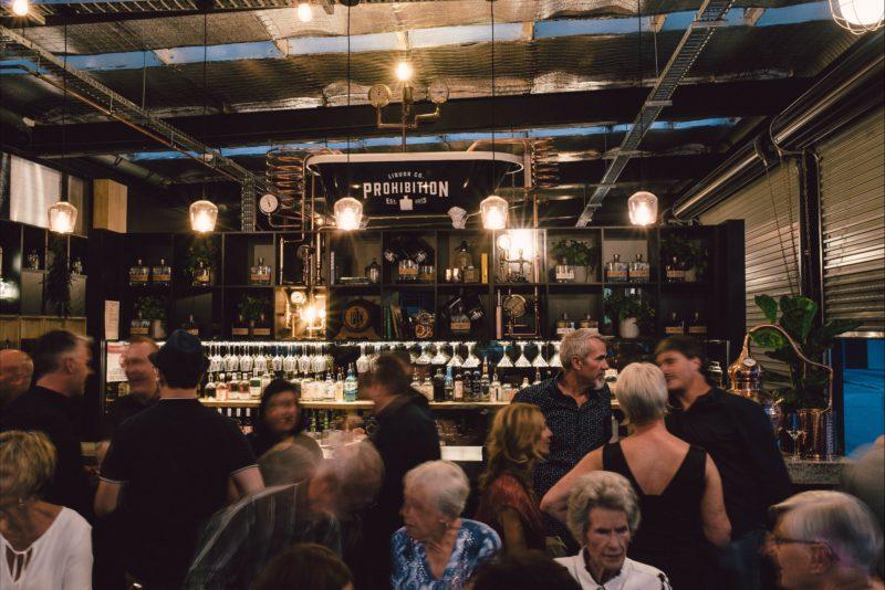 Prohibition Tasting Room - Interior at night