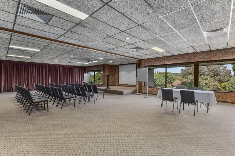 Capacity for up to 150 people. Break out rooms, catering available.