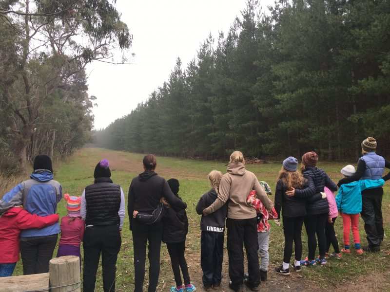 Big Heart Adventures Strong Daughters trips. Mothers and daughters standing in Kuitpo Forest