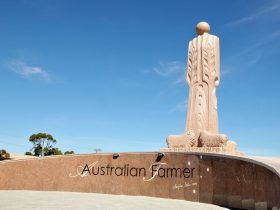Australian Farmer Granite Sculpture