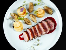 Coffee Roasted Duck, Apples and Potatoes