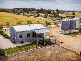 Barn aerial shot