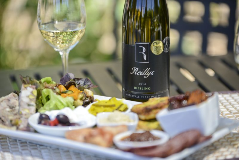 Award winning Watervale Riesling with regional product platter