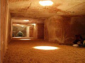 Underground camping area