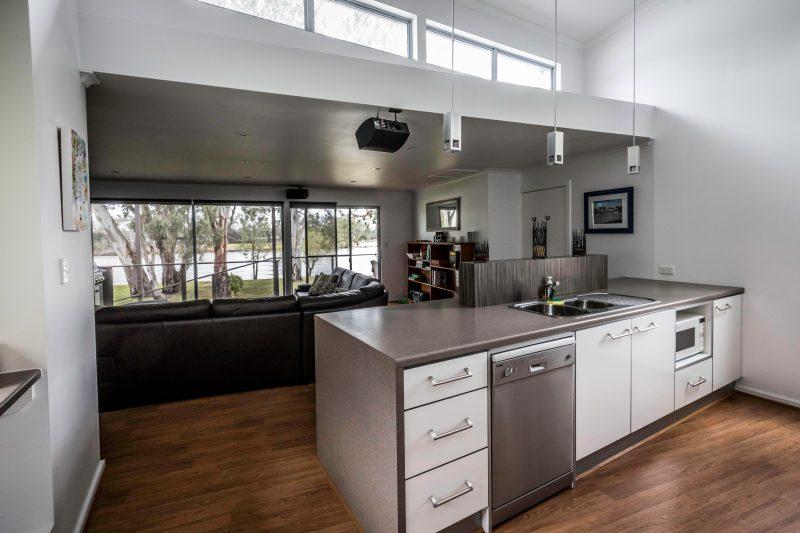 Modern spacious kitchen area